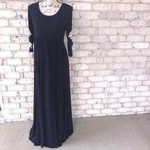 Pinkblush long maxi maternity dress